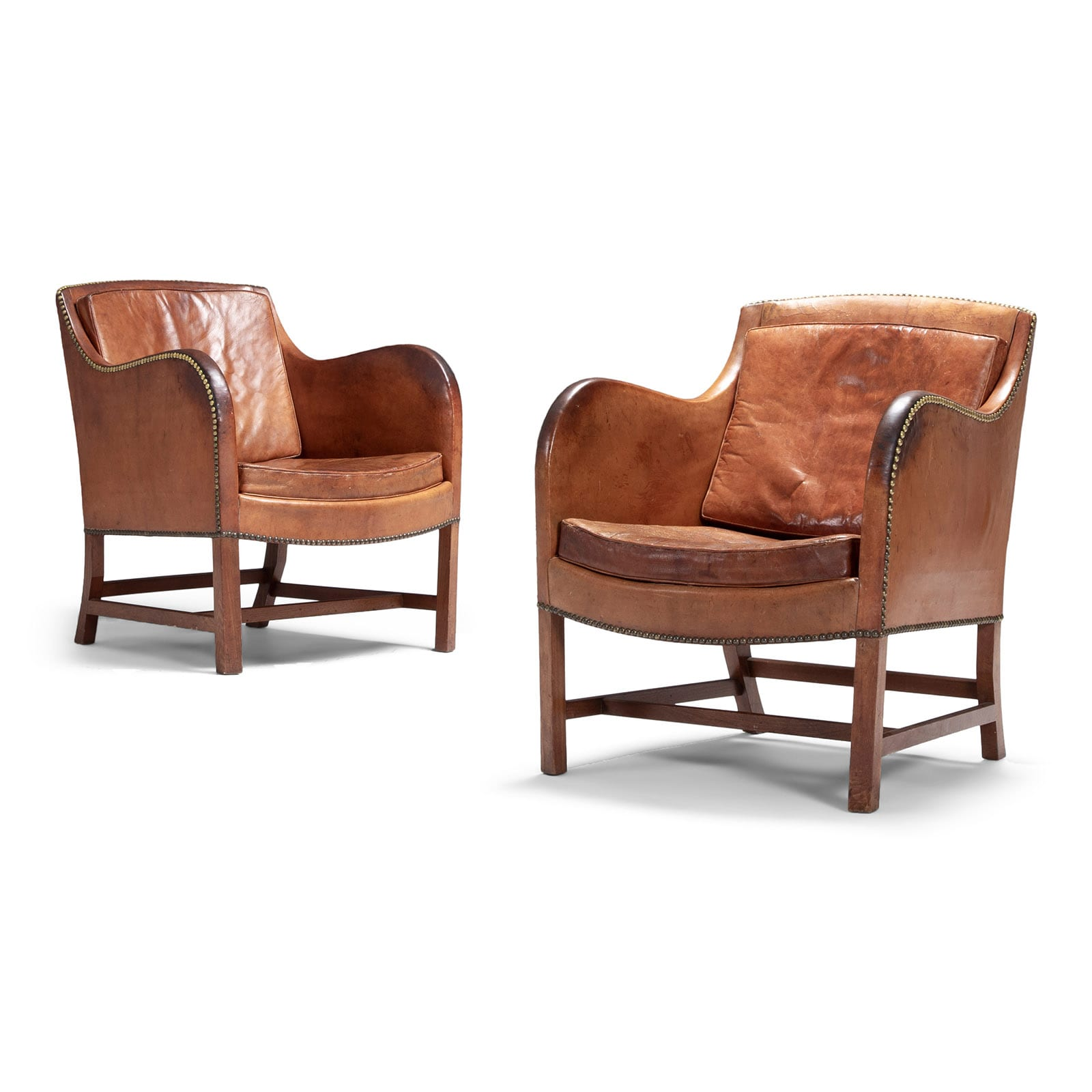 A pair of 'Mix' easy chairs