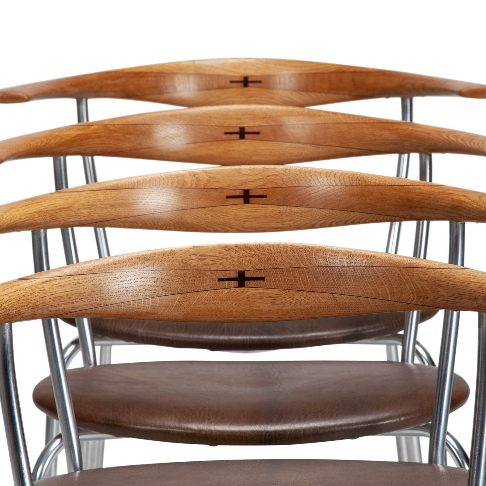 A set of JH701 armchairs