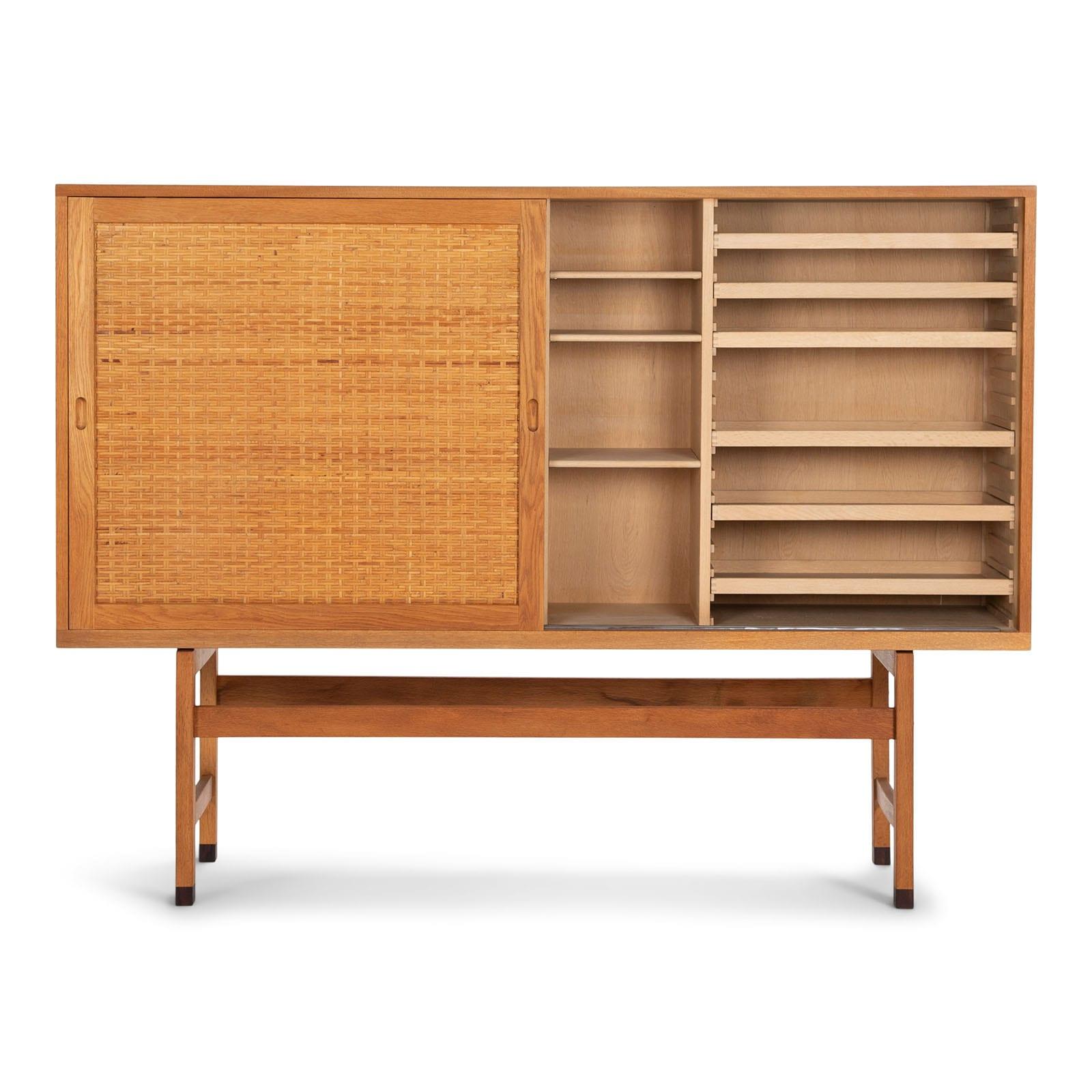 A tall cabinet in oak