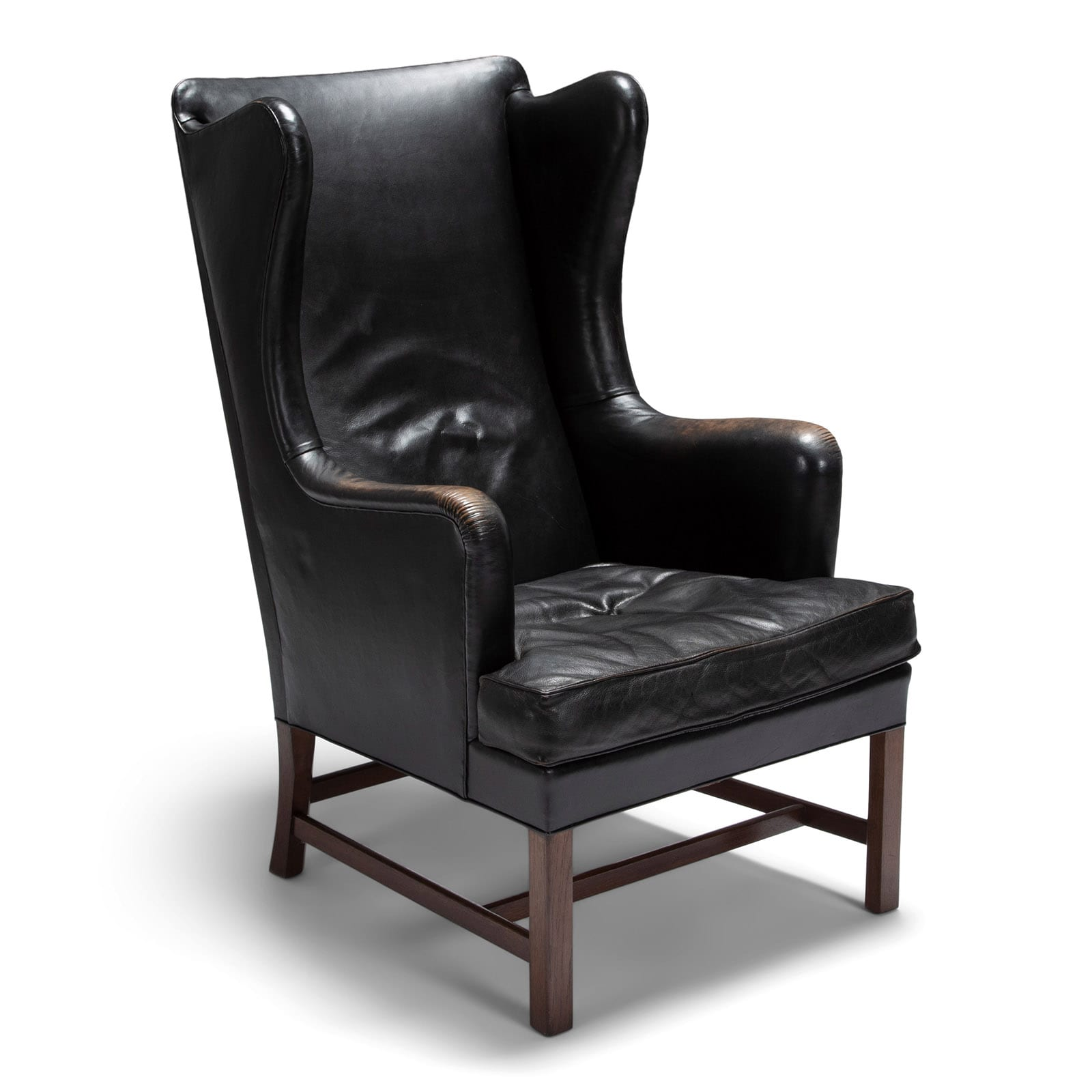 A wingback chair