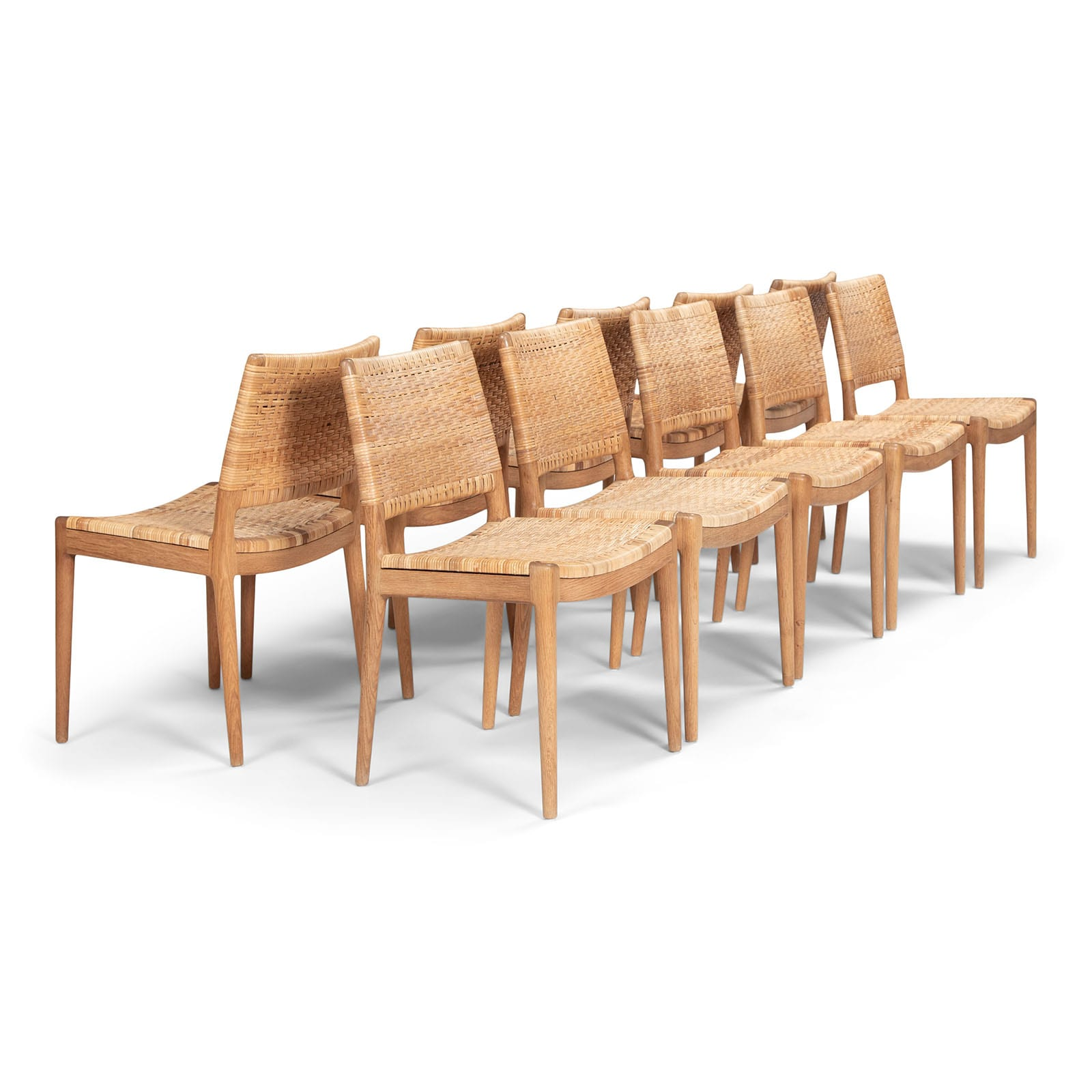 A set of 10 chairs