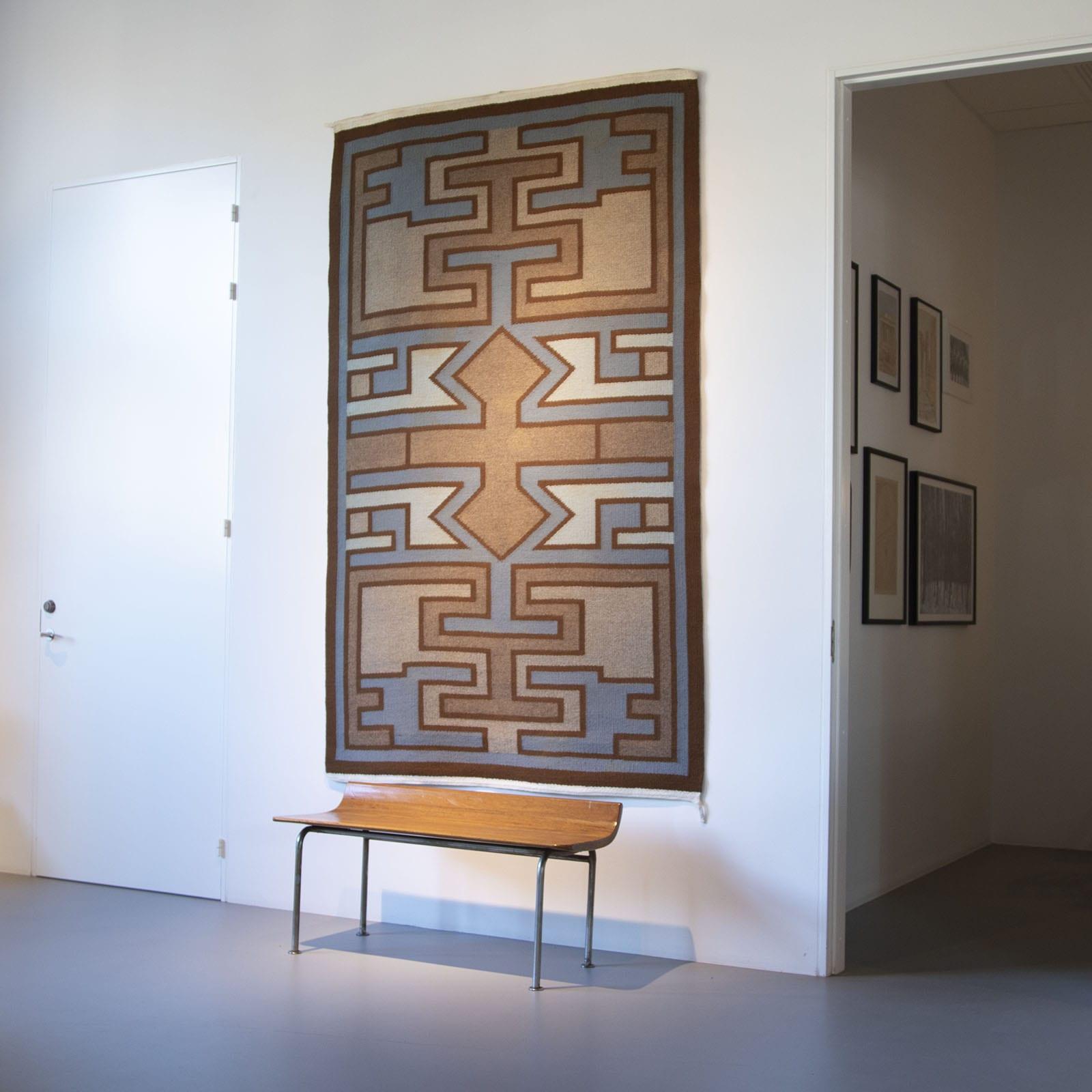 A geometric tapestry / rug